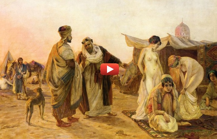 Marché de femmes aux Moyen-Orient