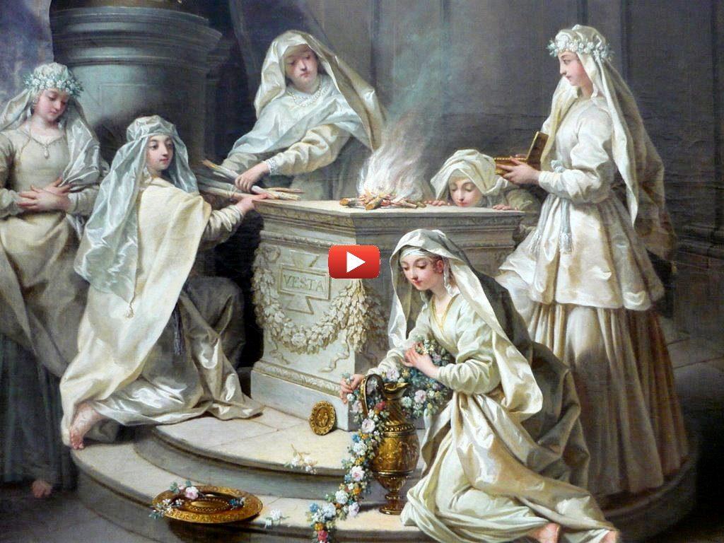 Vestales de l'antiquité qui veillent sur le Feu divin